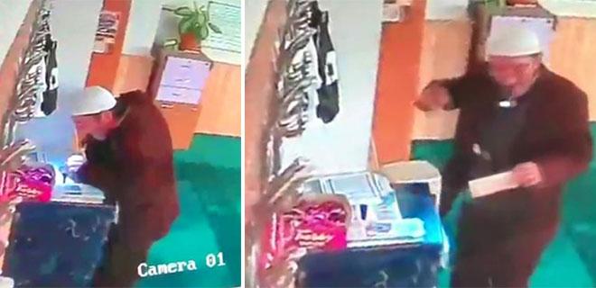 Camideki Kasadan Para Çalan Adamı Cemaat Nöbet Tutarak Yakaladı
