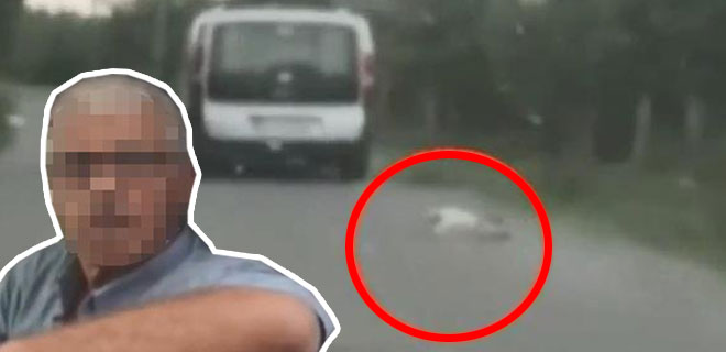 Ne Dirisine Ne Ölüsüne Saygıları Var! Köpeği Aracına Bağladı Sürükleyerek Götürdü!