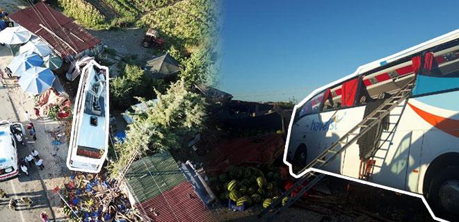 Havalimanı Servis Otobüsü Kaza Yaptı: 1 Ölü, 7 Yaralı!