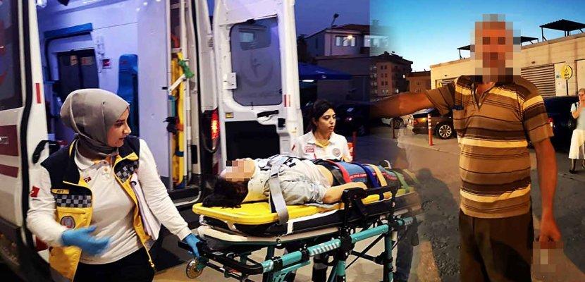 Trafik Kazasından Yara Almadan Kurtulan Kızını Döverek Hastanelik Etti!