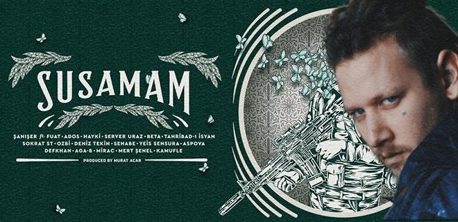 """Şanışer'in 17 Sanatçıyla Yaptığı """"Susamam"""" İsimli Şarkı Sosyal Medyayı Salladı!"""