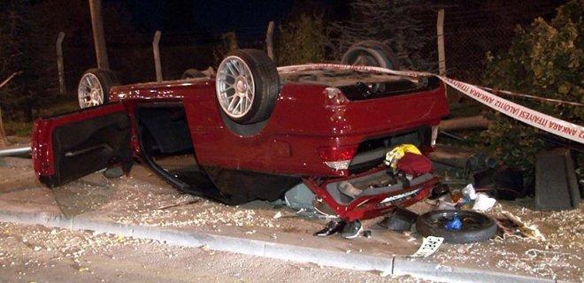 Ankara'da Kontrolden Çıkan Otomobil Takla Attı! Çocukların Yer Aldığı Araçta 1 Kişi Öldü