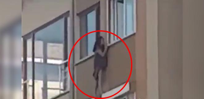 Aldatılan Eş Suçüstü Bastı, İlişkiye Girdiği Kadın Çıplak Halde 5. Katta Camdan Sarktı!