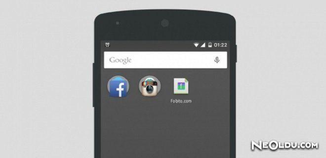 Android'de Web Sitesi Kısayolu Oluşturma
