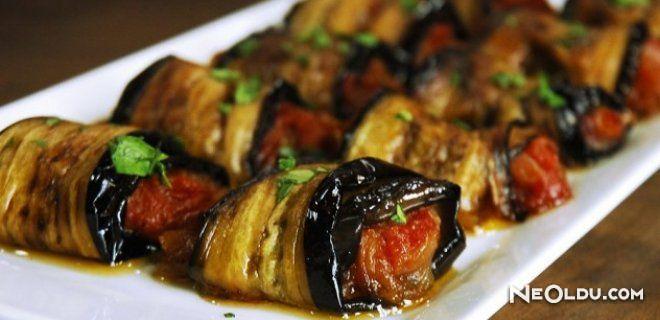 Zeytinyağlı Patlıcan Ruloları Tarifi