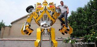 Oğlu İstedi Gerçek Transformers Robotunu Yaptı