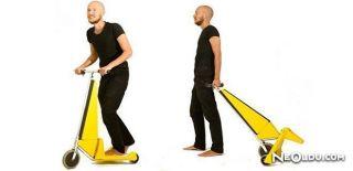 Alışveriş Arabasına Dönebilen Elektrikli Scooter