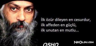 En Güzel Osho Sözleri, Anlamlı Osho Sözleri