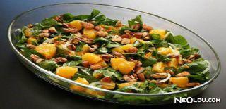 Portakallı Ispanak Salatası Tarifi