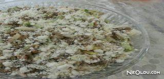 Çökelekli Yeşil Mercimek Salatası Tarifi