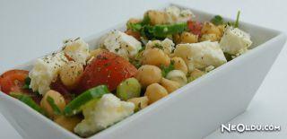 Taze Kişnişli Nohut Salatası Tarifi