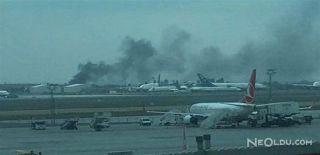 Atatürk Havalimanı'nda Yangın Alarmı!