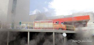 İstanbul Maslak'ta Plazada Yangın