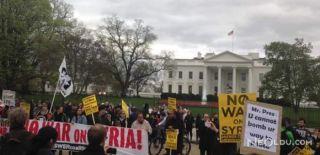 """Trump'a """"Suriye'den Elini Çek"""" Protestosu"""