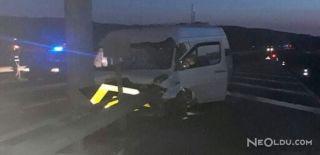 Düğüne Giden Minibüs Kaza Yaptı: 9 Yaralı