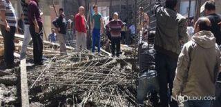 Samsun'da Cami İnşaatı Çöktü