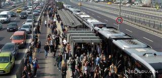 Çağlayan'da Metrobüs Arızası
