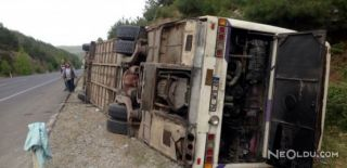Taraftar Otobüsü Kaza Yaptı!