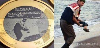 Finlandiya Ulusal Parasında Aylan Kurdi Resmi