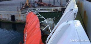 Alman Bandıralı Gemi ile Feribot Çarpıştı