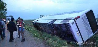 Otobüs Sulama Kanalına Düştü