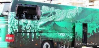 Bursaspor Takım Otobüsüne Taşlı Saldırı