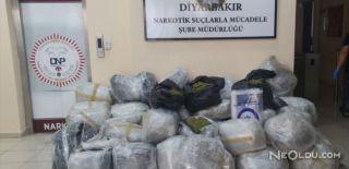 Diyarbakır'da 342 Kilogram Esrar Yakalandı