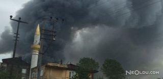 Trabzon'daki OSB'de Yangın!