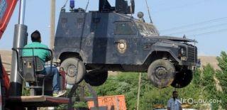 Nusaybin'de Zırhlı Araç Devrildi