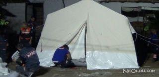 Manisa'da Depremzedeler İçin Çadır Kuruldu