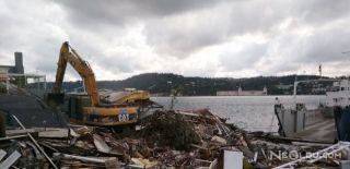 Galatasaray Adası'nda Yıkım İşlemi Başladı