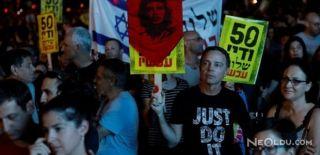 İsrail'de Halk Filistin İçin Sokağa Döküldü