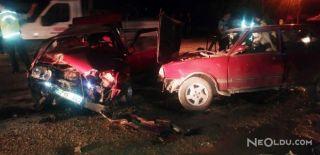 İki Otomobil Çarpıştı: 1 Ölü, 3 Yaralı