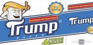 Meksika'da Trump Tuvalet Kağıtları Üretildi