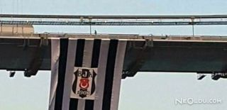 Köprüler Beşiktaş Bayrağıyla Donatıldı