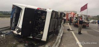 Asker Taşıyan Otobüs Kaza Yaptı: 49 Yaralı