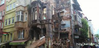İstanbul Kumkapı'da Bina Çöktü