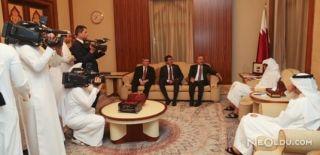 Çavuşoğlu ve Zeybekci Katar Emiri ile Görüştü