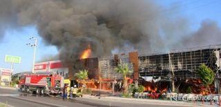AVM'de Korkutan Yangın! Müdahale Ediliyor!