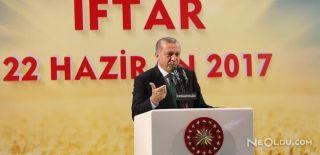 Cumhurbaşkanı Erdoğan İftar Yemeğinde Konuştu