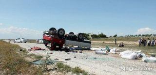 Aksaray'da Kamyonet Takla Attı: 1 Ölü, 1 Yaralı