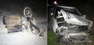 Otomobille Motosiklet Çarpıştı: 4 Ölü, 1 Yaralı