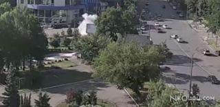 Kiev'de Bomba Yüklü Araç Patladı