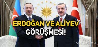 Erdoğan Aliyev ile Görüştü