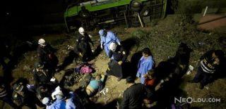 Tur Otobüsü Devrildi! 25 Yaralı, 9 Ölü