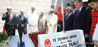 Erdoğan ve Yıldırım'dan 15 Temmuz Şehitliğine Ziyaret
