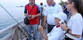 Görme Engelliler Balık Tutmak İçin Yarıştı