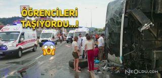 Giresun'da Korkutan Kaza! 38 Yaralı
