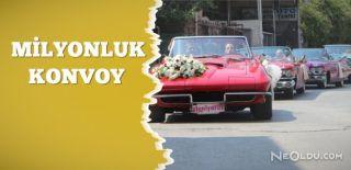 Klasik Otomobillerle Düğün Konvoyu Yaptı