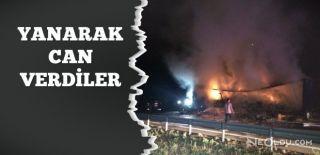 Kaza Yapan TIR Aracı Alev Alev Yandı: 2 Ölü